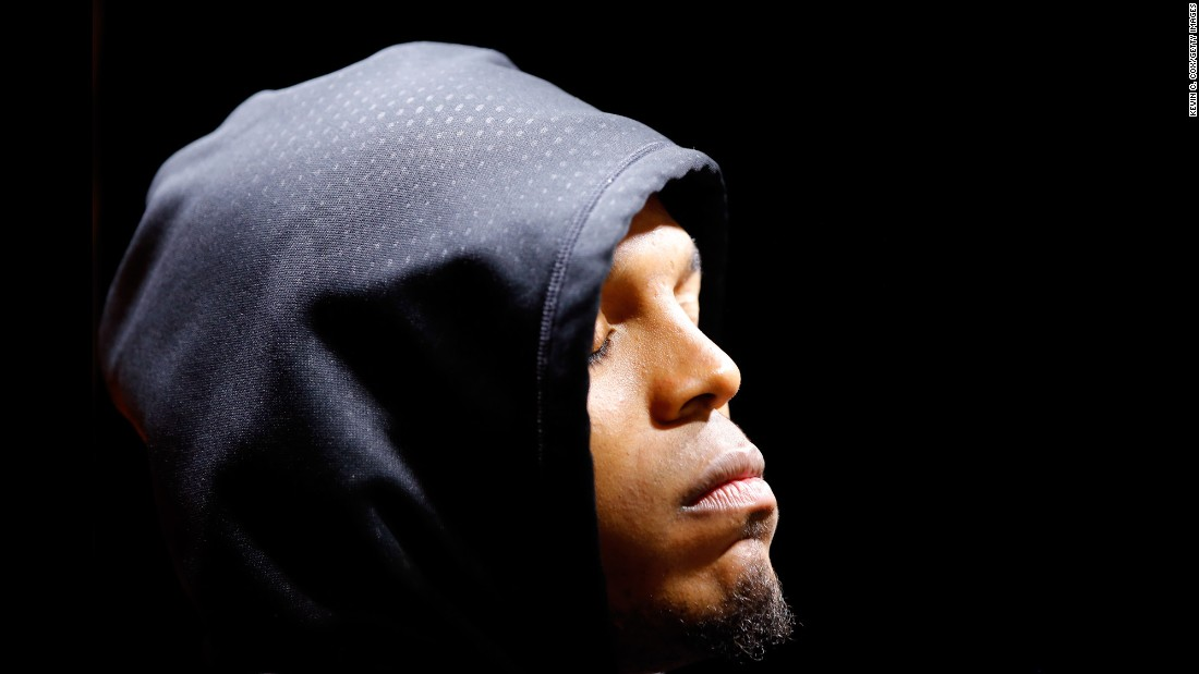 "Carolina quarterback Cam Newton closes his eyes while taking questions from reporters after <a href=""http://www.cnn.com/2016/02/07/us/gallery/super-bowl-50-photos/index.html"" target=""_blank"">Super Bowl 50.</a> Newton was sacked six times by a dominant Denver defense led by Von Miller, who was named the game's <a href=""http://www.cnn.com/2015/01/25/us/gallery/super-bowl-mvps/index.html"" target=""_blank"">Most Valuable Player.</a>"