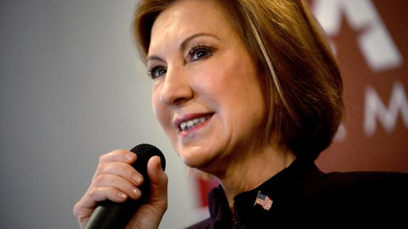 "MANCHESTER, NH - FEBRUARY 8: Republican Presidential candidate Carly Fiorina holds ""Coffee With Carly"" at Blake"