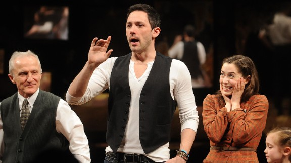 """""""Once"""" is about a Dublin busker and a Czech woman -- whose characters go by Guy and Girl -- who meet and become artistically and romantically involved. The show, based on the 2007 film, won eight Tony Awards in 2012, including best musical. It ran for almost three years."""