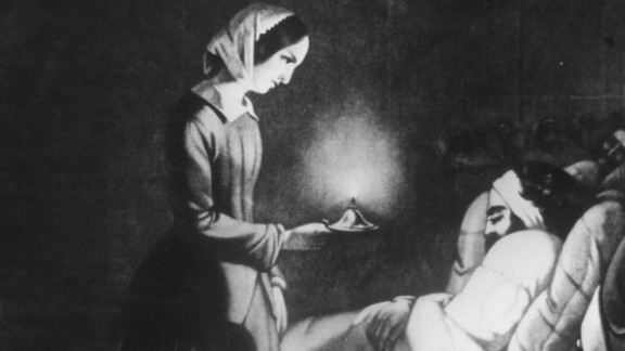 Florence Nightingale (1820-1910) was an English nurse who became the first woman to receive the Order of Merit for her efforts during the Crimean War. As a nurse, she spent her night rounds giving personal care to the wounded and became known as the 'Lady with the Lamp'.