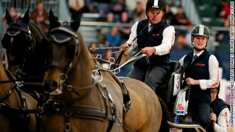 MADRID, SPAIN - NOVEMBER 29:  Boyd Exell competes during the Madrid Horse Week 2015 at IFEMA on November 29, 2015 in Madrid, Spain.  (Photo by Juan Naharro Gimenez/Getty Images)