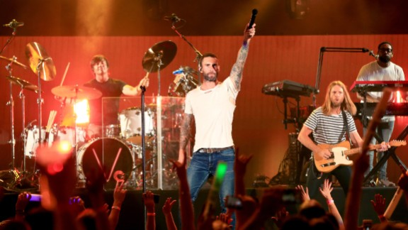 "The Los Angeles group Maroon 5's album ""Songs About Jane"" went platinum in 2004. The next year, the band beat out rapper Kanye West to win the Grammy for best new artist. The group released its fifth album in 2014. Lead singer Adam Levine is a judge on NBC's ""The Voice."""