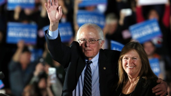 Sen. Bernie Sanders (D-VT) and his wife Jane O
