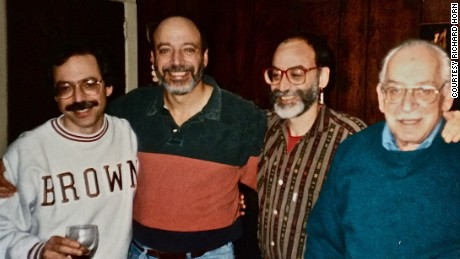 Richard Horn, second from right, with brothers Walter and Paul and their father, Selig.