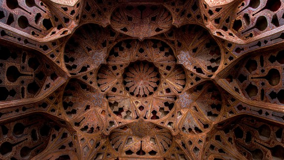 """Located on the western edge of Isfahan's Naqsh-e Jahan square, this six-story palace's name means """"grand doorway."""""""