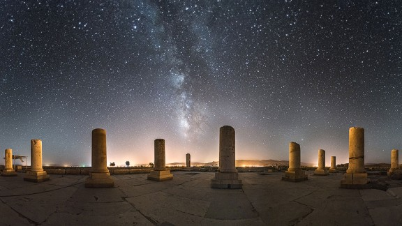 """""""This is a very important monument, as it is relates to one of the most famous Persian emperors,"""" says Ganji. """"The Milky Way is only visible on certain summer evenings where the sky is clear and there's no moon."""""""
