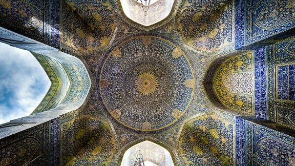 """""""The ceiling of this place is like none other,"""" says Ganji. """"One of the most exquisite works of architecture, it's hard to look away."""""""