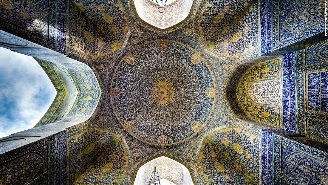 """The ceiling of this place is like none other,"" says Ganji. ""One of the most exquisite works of architecture, it's hard to look away."""