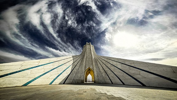 """Built in 1971, the Azadi tower marks the 2,500th anniversary of the Persian Empire. """"I like this tower for its unique architecture,"""" says Ganji."""