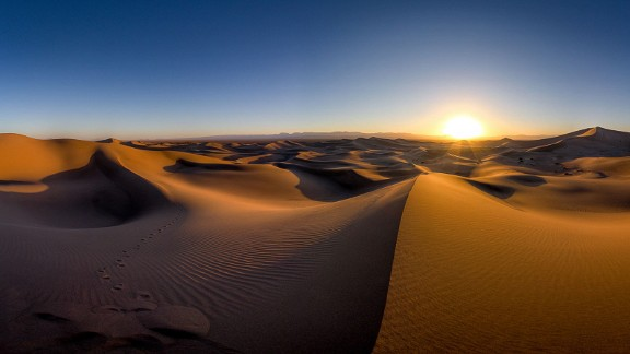 """""""This is taken on a regular day and shows what a desert is supposed to look like -- dry and hot white sands shining under the sunlight."""""""