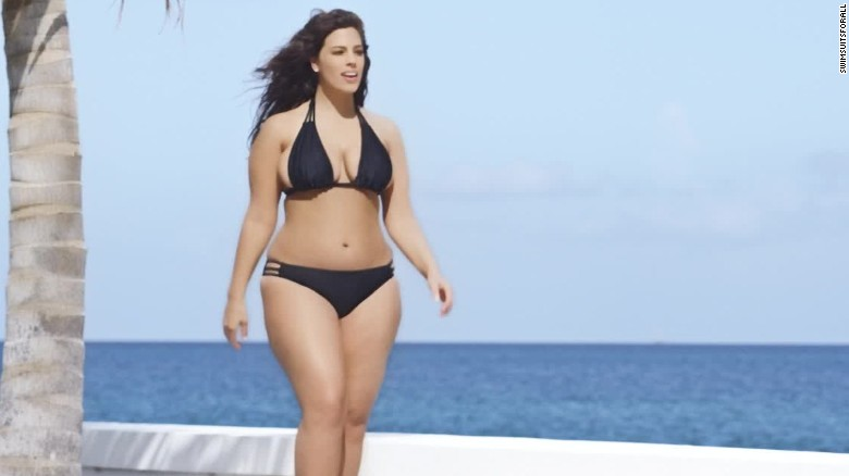 Plus-size model inside Sports Illustrated