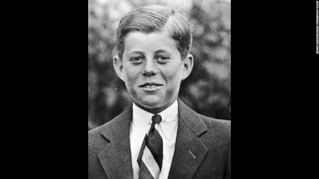 "Kennedy survived myriad health problems as a child, including scarlet fever. In this 1927 photo, JFK -- known as ""Jack"" -- is 10 years old."