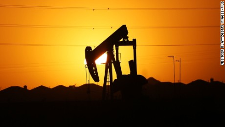A pumpjack  sits at dawn in the Permian Basin oil field last January near Midland, Texas.
