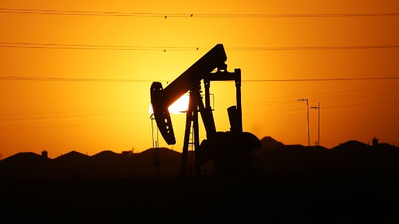 A pumpjack sits in the Permian Basin oil field in the oil town of Midland, Texas, in 2016.