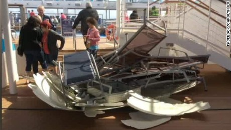 Cruise Ship Passenger Tables Chairs Were Flying CNN Video - Cruise ship in rough waters