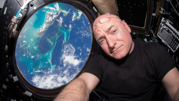Scott Kelly takes a selfie during the One-Year Mission.