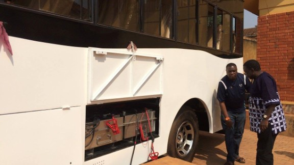 The bus features two battery bulbs, with one connected to solar panels on the roof to provide firepower for the electric motor. The second bulb is available for charging.