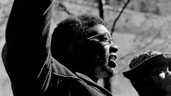 American political and social activist and Black Panther Party member Fred Hampton speaks at the Days of Rage rally in Chicago in October 1969. Hampton was shot to death in his bed by police in a predawn raid only two months later.