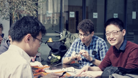 The team at GyroGlove are volunteers, made up mainly of engineering and graduate students in London.