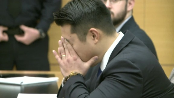 Former NYPD Officer Peter Liang when the verdict was read at his manslaughter trial this month.
