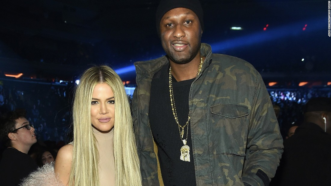 Khloe Kardashian and Lamar Odom in 2016