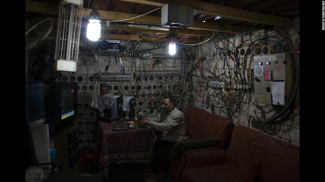 "Keeping the lights on: The electricity ""operations room"" in a neighborhood of rebel-held Aleppo."
