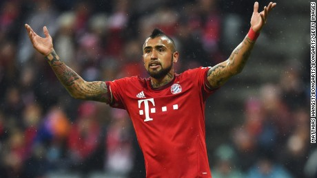Bayern's Arturo Vidal will face his former club Juventus.