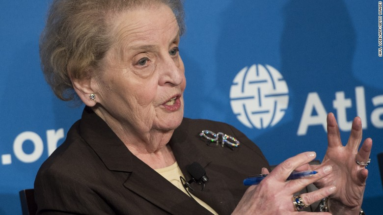 Albright: 'I'm embarrassed' by discussion on GOP side