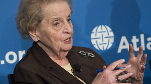 Former US Secretary of State Madeleine Albright speaks during the launch of the Middle East Strategy Task Force at the Atlantic Council in Washington, DC, June 4, 2015.