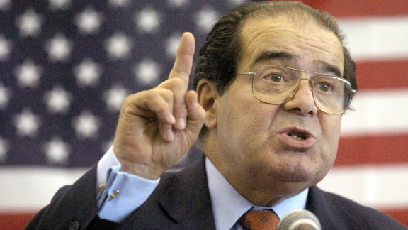 Scalia speaks to Presbyterian Christian High School students in Hattiesburg, Mississippi, April 7, 2004.
