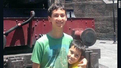Sage Cook (left) and his brother, Isaac Cook, were last seen in August last year in California.
