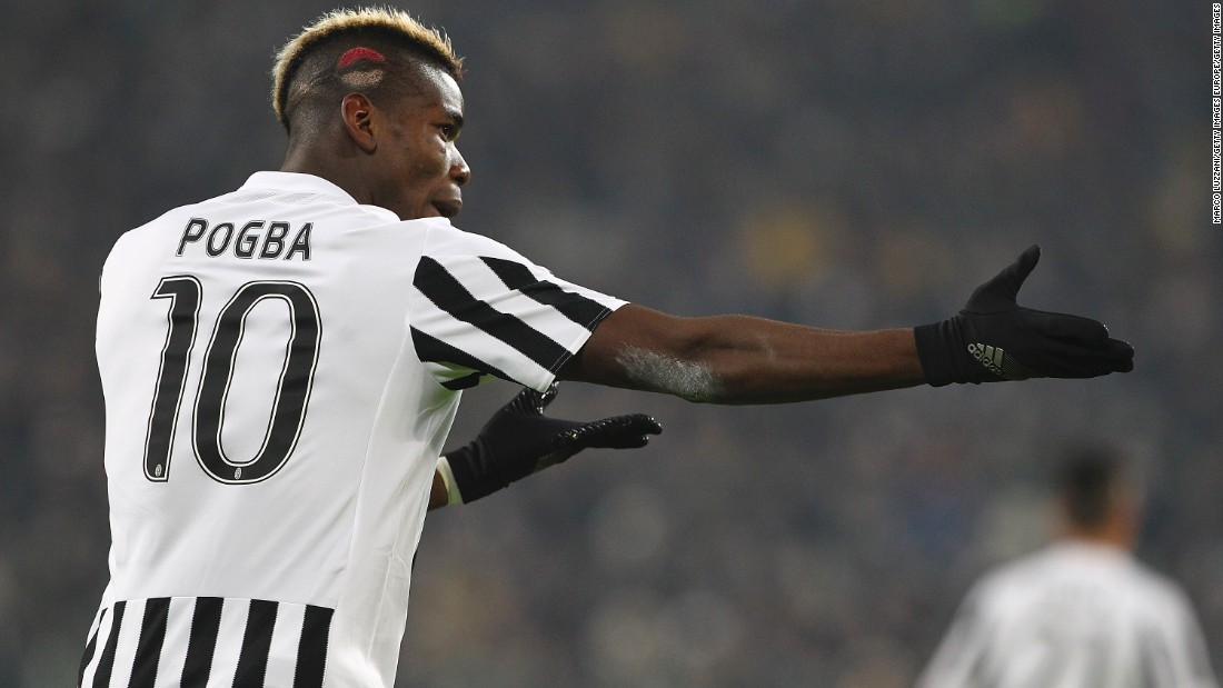 Juventus midfielder Paul Pogba shows off a special haircut for Valentine's Day.