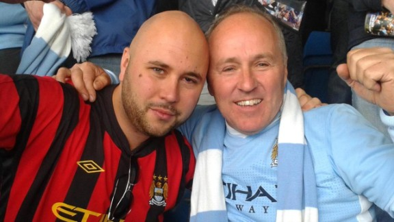Viola Beach's manager Craig Tarry, left, is pictured with his father.