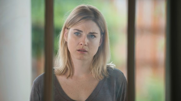 Jessie (played by Alexandra Breckenridge) was starting to get close to Rick when all hell broke loose in the community of Alexandria. As Rick leads Jessie and her sons, camouflaged in zombie guts, through a throng of walkers, her son Sam freaks out. He blows their cover and draws the walkers