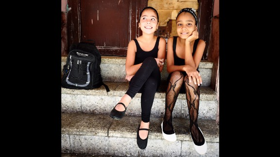 CUBA: Waiting for ballet class in Centro Habana. Photo by CNN's Patrick Oppmann @cubareporter, February 13.