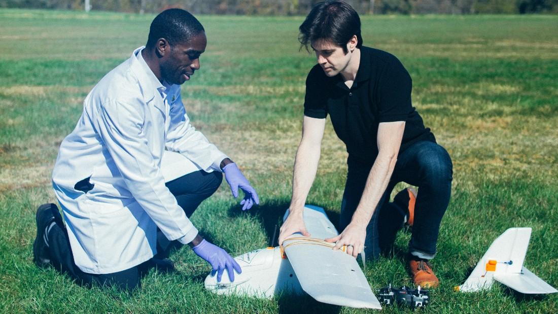 Teams from the Core Laboratory at Johns Hopkins Hospital are testing the devices in open air fields near Baltimore. Blood samples were loaded on the drone and flown around for varying time periods between six and 38 minutes.