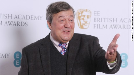 LONDON, ENGLAND - JANUARY 08:  Stephen Fry attends the annoucement of the EE British Academy Film Awards nominations at BAFTA on January 8, 2016 in London, England.  (Photo by Stuart C. Wilson/Getty Images)