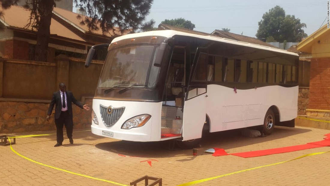 "Kiira Motors has also launched <a href=""http://edition.cnn.com/2016/02/15/africa/africa-solar-bus-kiira-uganda/index.html"" target=""_blank"">Africa's first solar-powered bus. </a>The bus has 35 seats, and is powered by two batteries. It can travel up to 50 miles straight."