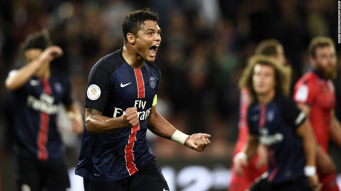 Thiago Silva led Paris Saint-Germain to the quarterfinal stage last season and he's up against Chelsea once more. The Brazilian defender has enjoyed another fine campaign and just edged out Juventus' Leo Bonucci and Barcelona's Gerard Pique.