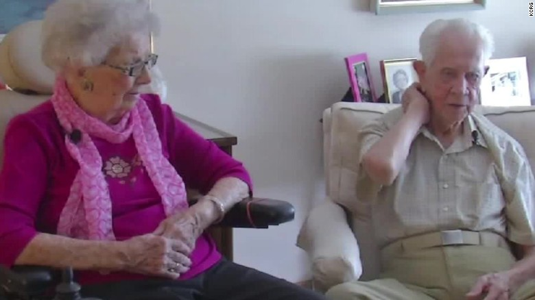 Couple married for almost 80 years