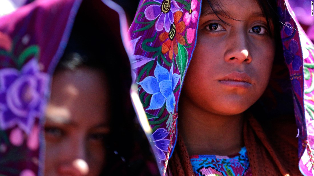 Indigenous women attend Mass in San Cristobal de las Casas.