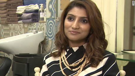 Sneha Daftary at her hair salon Vous in Mumbai, India