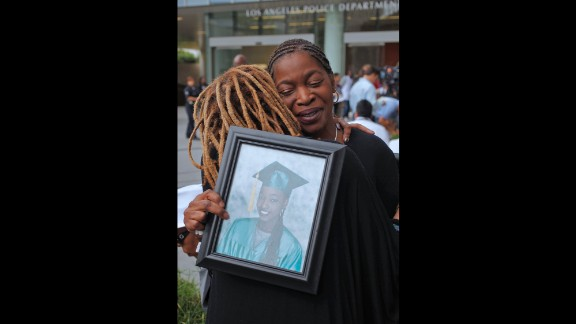 A homeless man found the body of Janecia Peters, 25, on January 1, 2007. She had been shot in the back and placed in a garbage bag.