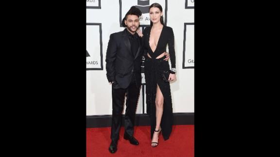 The Weeknd and his girlfriend, model Bella Hadid