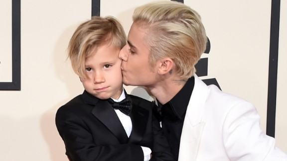 Justin Bieber and his younger brother, Jaxon