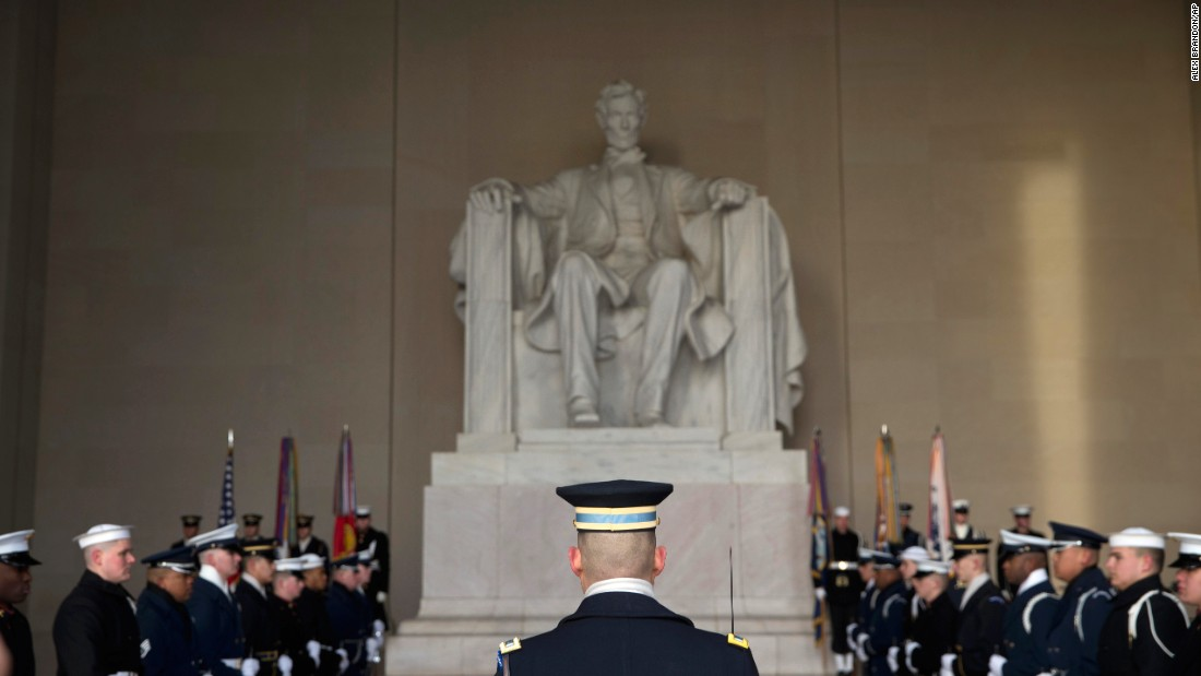 Federal officials announced that philanthropist David Rubenstein will give $18.5 million to restore and upgrade the Lincoln Memorial, shown here during a wreath-laying ceremony celebrating the 16th President's 207th birthday on Friday, February 12.