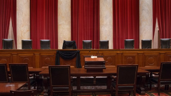 The Courtroom of the Supreme Court showing Associate Justice Antonin Scalia