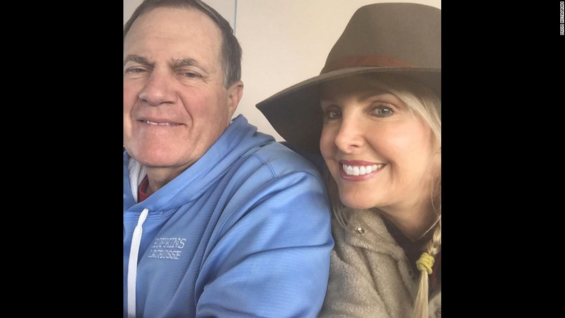 "Is that a smile on Bill Belichick? The usually gruff football coach appears happy in a selfie taken by his girlfriend, Linda Holliday, on Saturday, February 13. ""Stay warm & cozy on this Valentine's weekend!"" <a href=""https://www.instagram.com/p/BBuuV7piUeO/"" target=""_blank"">she said on Instagram.</a>"
