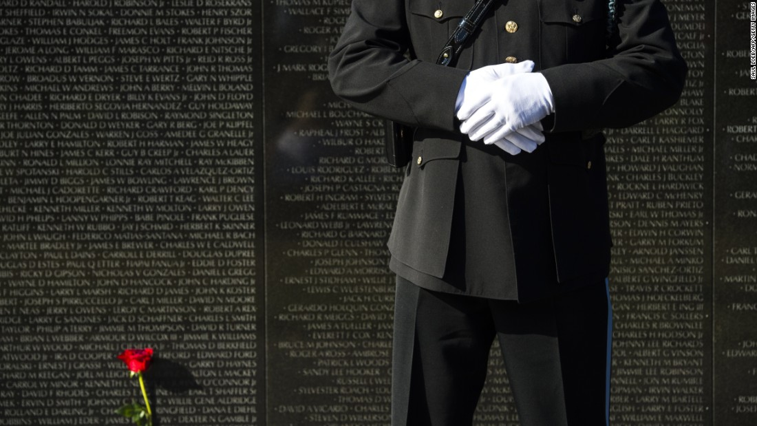 "<a href=""http://www.nps.gov/vive/index.htm"" target=""_blank"">The Vietnam Veterans Memorial</a> includes the names of over 58,000 servicemembers who gave their lives in service in the Vietnam War."