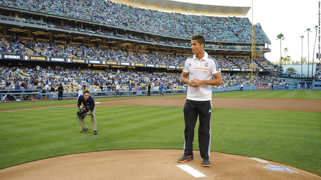 Ronaldo's superstar status would fit the Hollywood lifestyle. He has been romantically linked with two of its most famous inhabitants -- Kim Kardashian and Paris Hilton -- and even threw a ceremonial first pitch before the LA Dodgers played the New York Yankees in July 2013.